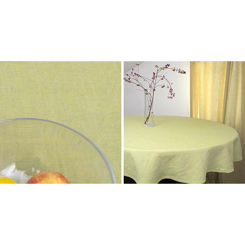 Ubrus kruhový žlutozelený