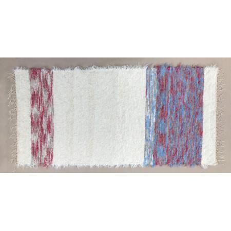 koberec modrorůžový 160x75cm