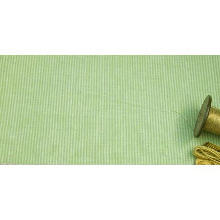 len - metráž - lněná látka - Proužek (2mm) Uki zelená, š. 150 cm, len