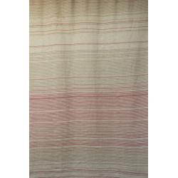 len - metráž - lněná látka - Proužky Lin-Lines růžová, plátno, š. 160 cm, len
