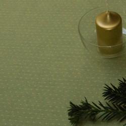 Mettraz - Limetka tm.zelená s hvězdičkami, š.140cm, bavlna - 3
