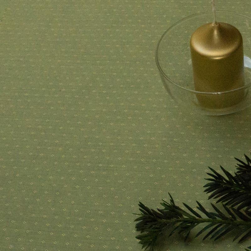 Limetka tm.zelená s hvězdičkami, š.140cm, bavlna - 3