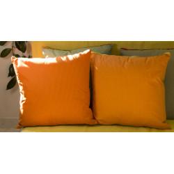 Polštář oranžový, 45x45 cm, bavlna