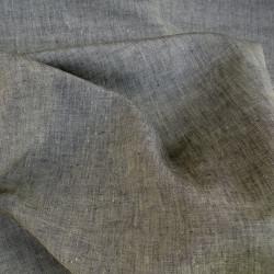 Uni indigo-režná, š. 150 cm, len